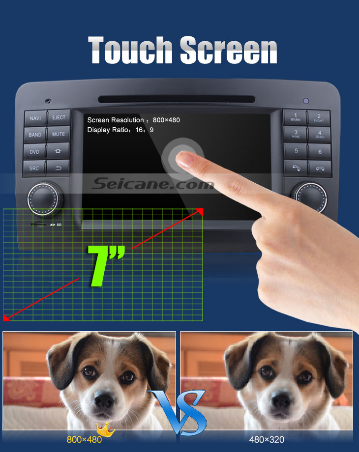 Touch Screen Car dvd player for Benz GL CLASS with GPS Radio TV Bluetooth