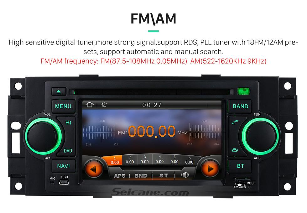 Seicane Em traço Autoradio Navegação GPS Bluetooth para 2006 2007 Mitsubishi Raider com DVD Sintonizador de TV AUX IPOD MP3 Controle de volante Dual Zone SD USB