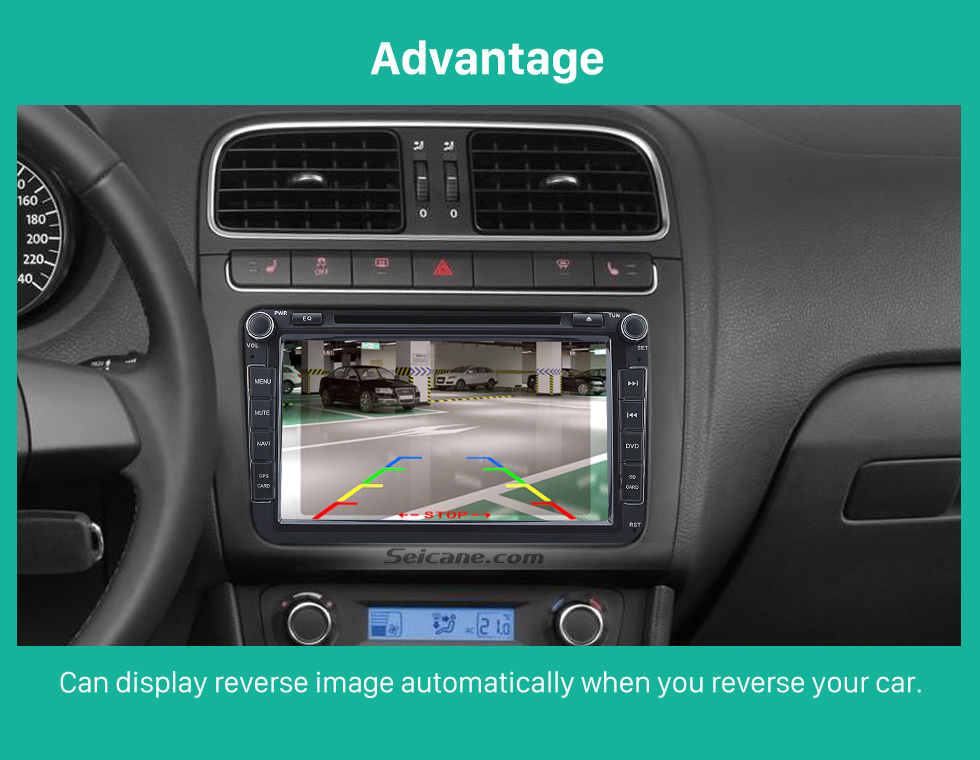 Advantage Seicane HD Car Rearview Camera for aftermarket radio