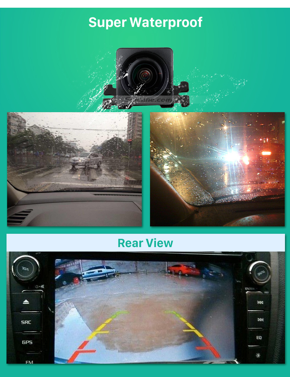 Super Waterproof Seicane HD Car Rearview Camera for aftermarket radio