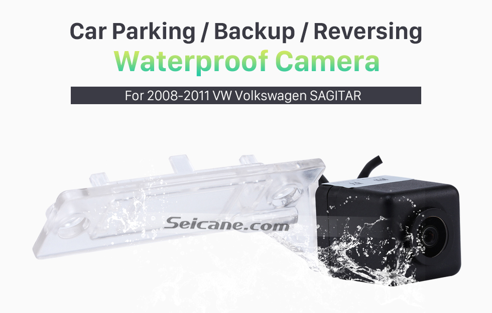 Seicane HD Wired Car Parking Backup Camera for 2008-2011 VW Volkswagen SAGITAR Waterproof Blue Ruler Night Vision free shipping