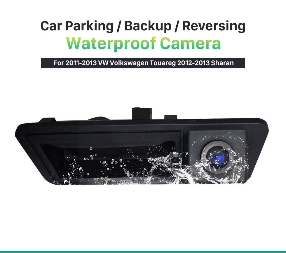 Seicane HD Wired Car Parking Backup Reversing Camera for 2011-2013 VW Volkswagen Touareg 2012-2013 Sharan Waterproof four-color ruler and LR logo Night Vision free shipping