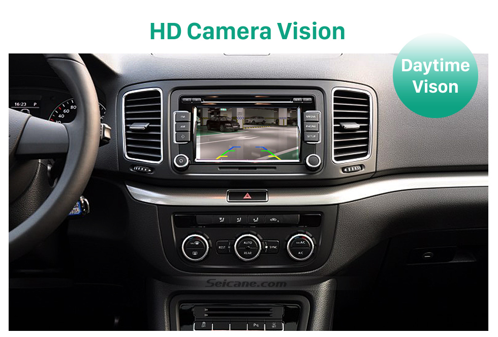 HD Camera Vision HD Wired Car Parking Backup Reversing Camera for 2011-2013 VW Volkswagen Touareg 2012-2013 Sharan Waterproof four-color ruler and LR logo Night Vision free shipping