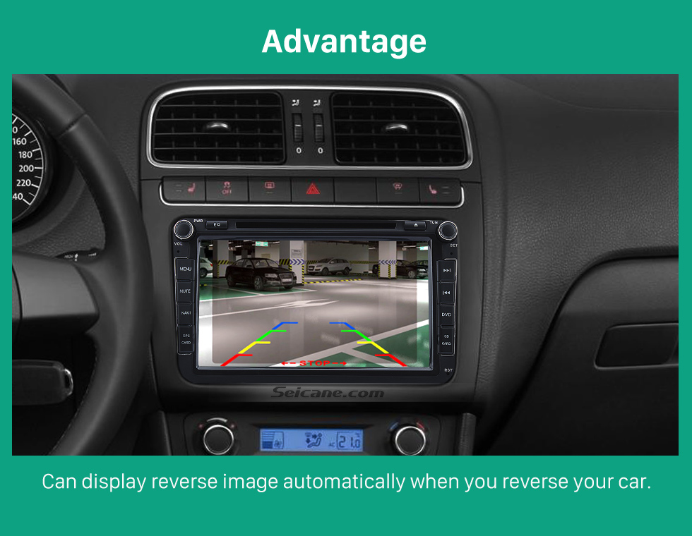 Advantage HD Wired Car Parking Backup Reversing Camera for 2011-2013 VW Volkswagen Touareg 2012-2013 Sharan Waterproof four-color ruler and LR logo Night Vision free shipping