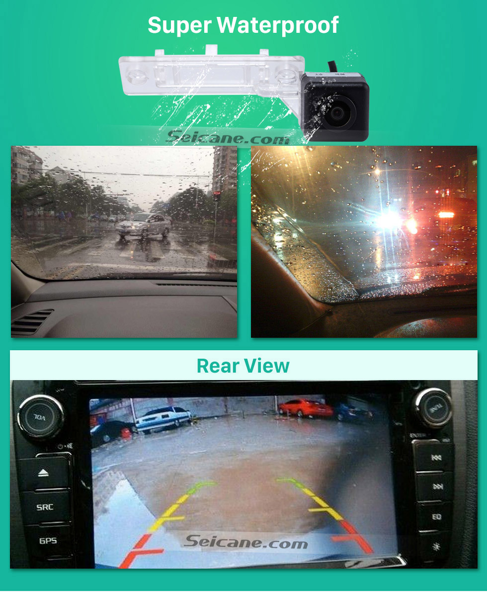 Super Waterproof VW Volkswagen T5 TRANSPORTER MULTIVAN T5 Caddy Passat Golf Jetta Car Rear View Camera with Blue Ruler Night Vision free shipping