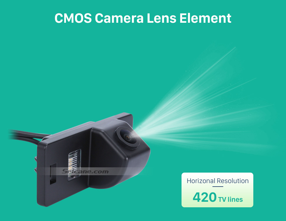 CMOS Camera Lens Element HD Wired Car Parking Backup Reversing Camera for 2008-2013 Audi TT Waterproof Blue Ruler Night Vision free shipping