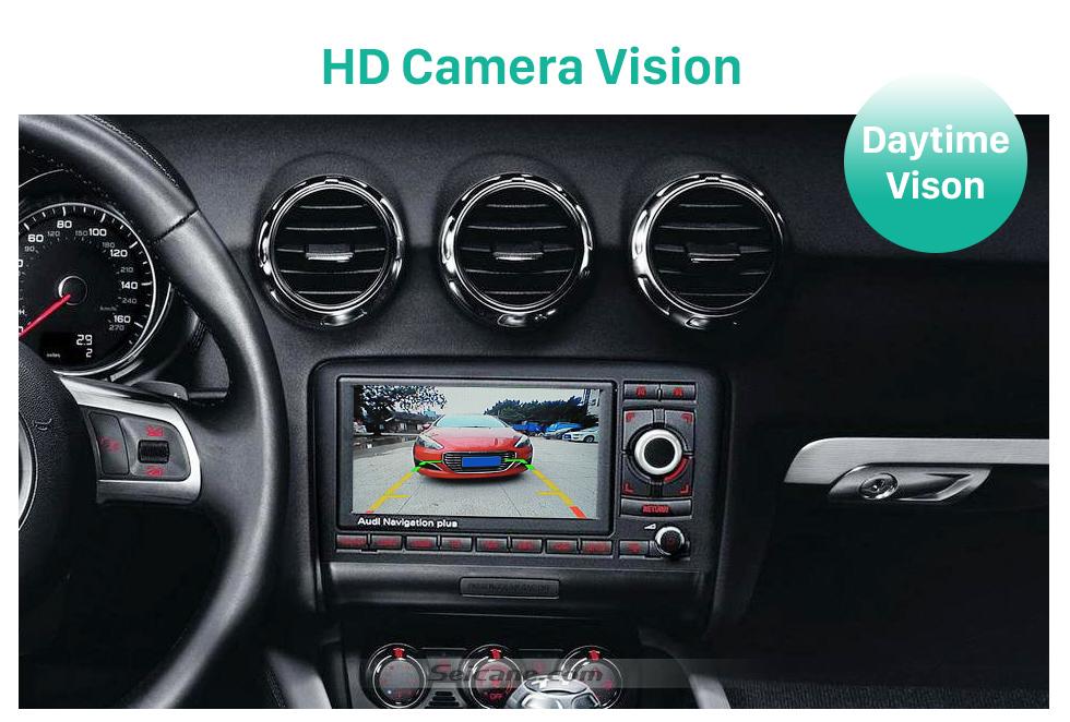 HD Camera Vision HD Wired Car Parking Backup Reversing Camera for 2008-2013 Audi TT Waterproof Blue Ruler Night Vision free shipping