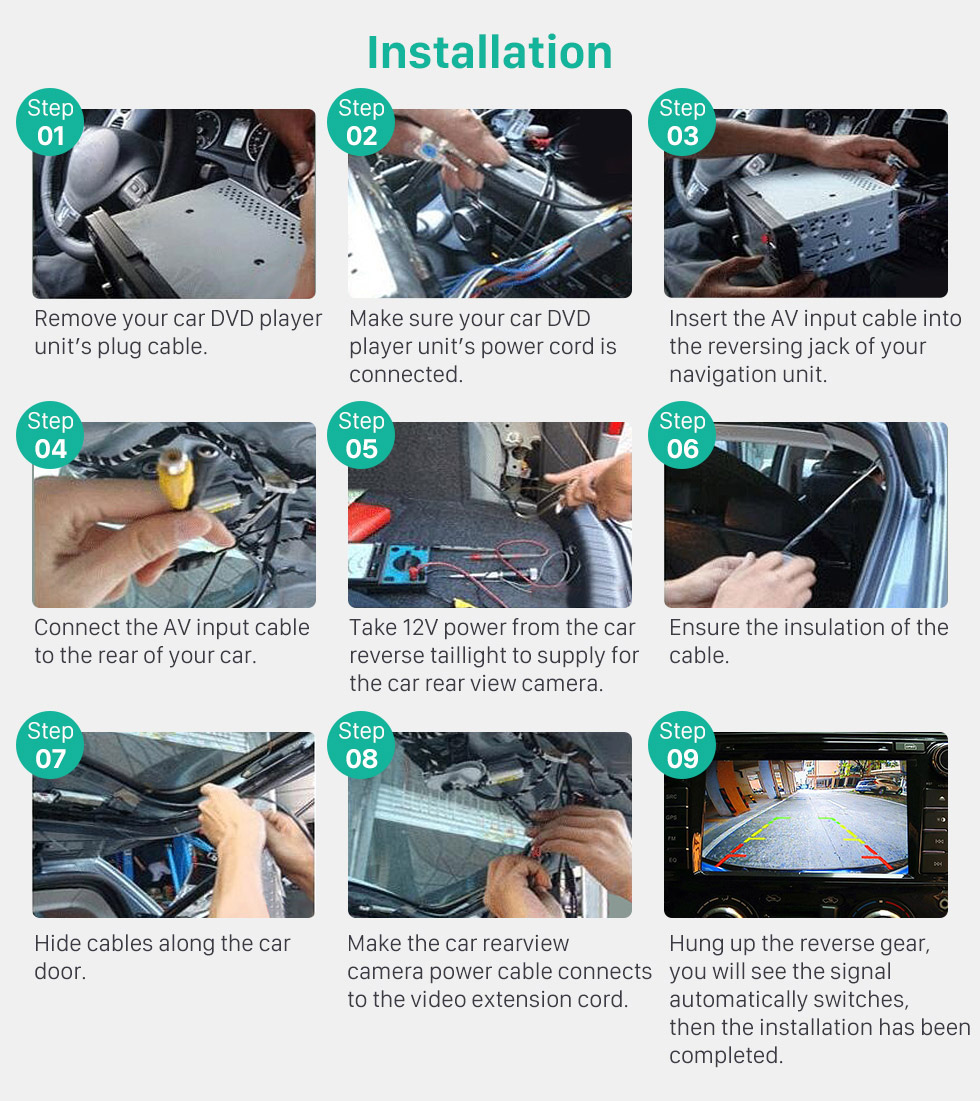 Installation HD Wired Car Parking Backup Reversing Camera for 2008-2013 Audi TT Waterproof Blue Ruler Night Vision free shipping