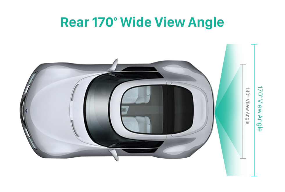 Rear 170 Wide View Angle HD Wired Car Parking Backup Reversing Camera for 2008-2013 Audi TT Waterproof Blue Ruler Night Vision free shipping