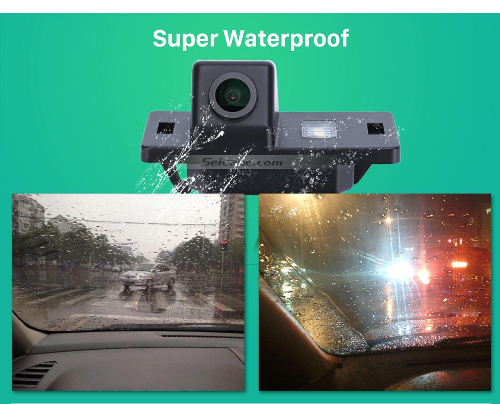 Super Waterproof HD Wired Car Parking Backup Reversing Camera for 2008-2013 Audi TT Waterproof Blue Ruler Night Vision free shipping
