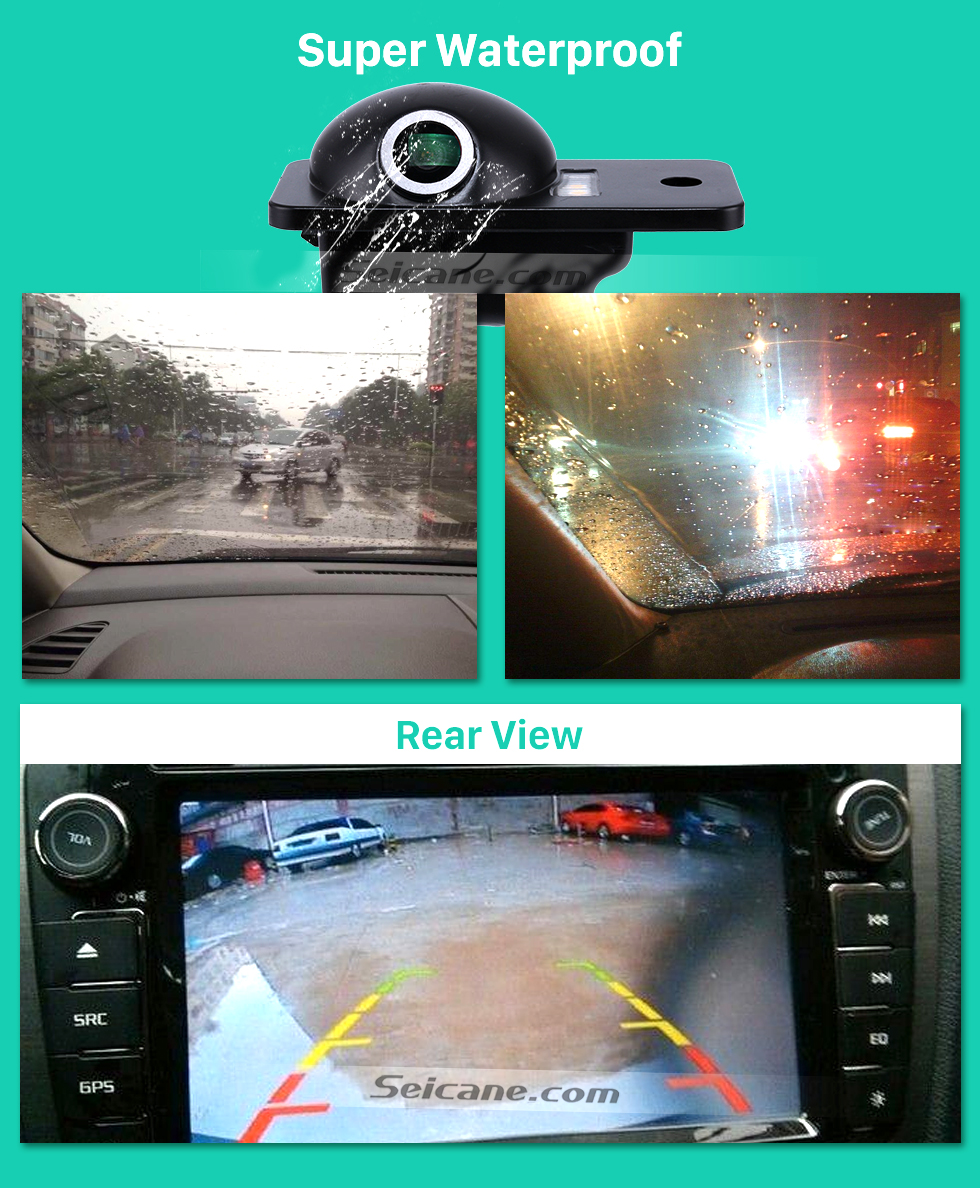 Seicane 170° HD Waterproof Blue Ruler Night Vision Car Rearview Camera for 2007-2011 Audi A6L free shipping