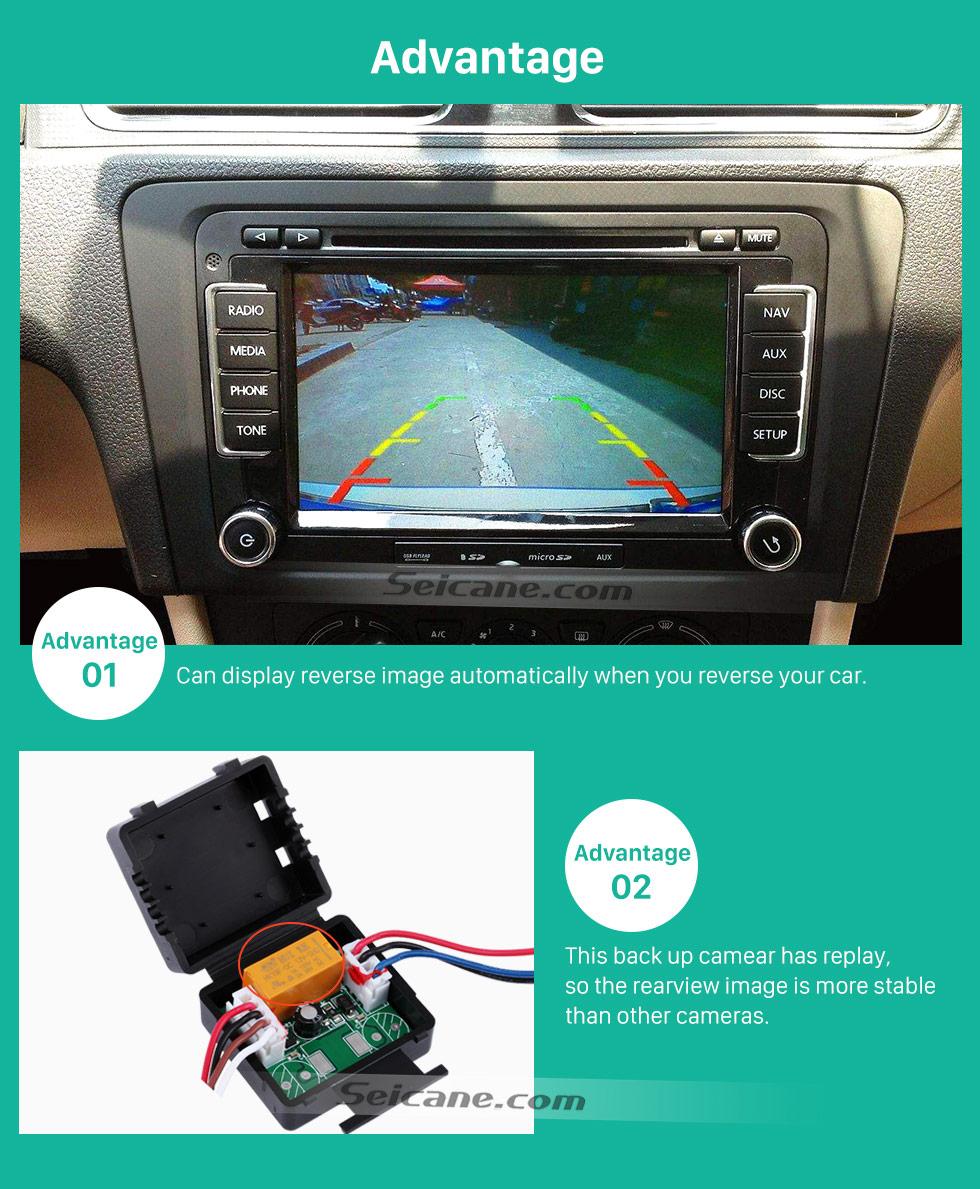 Advantage 170° HD Wasserdicht blau Herrscher Nachtsicht auto Rückfahr kamera für 2010 2011 Audi A4L Q5 Versand kostenfrei