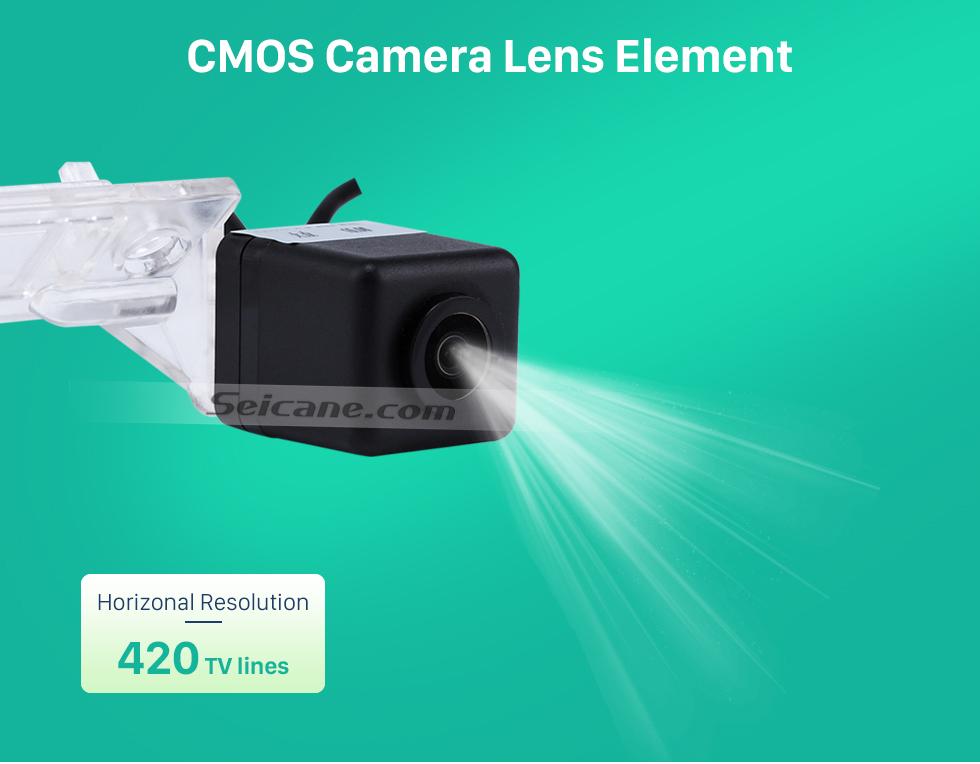CMOS Camera Lens Element 170° HD À prova d'água azul governante Visão noturna Carro Retrovisor Câmera para 2010 2011 Audi A4L Q5 Frete grátis
