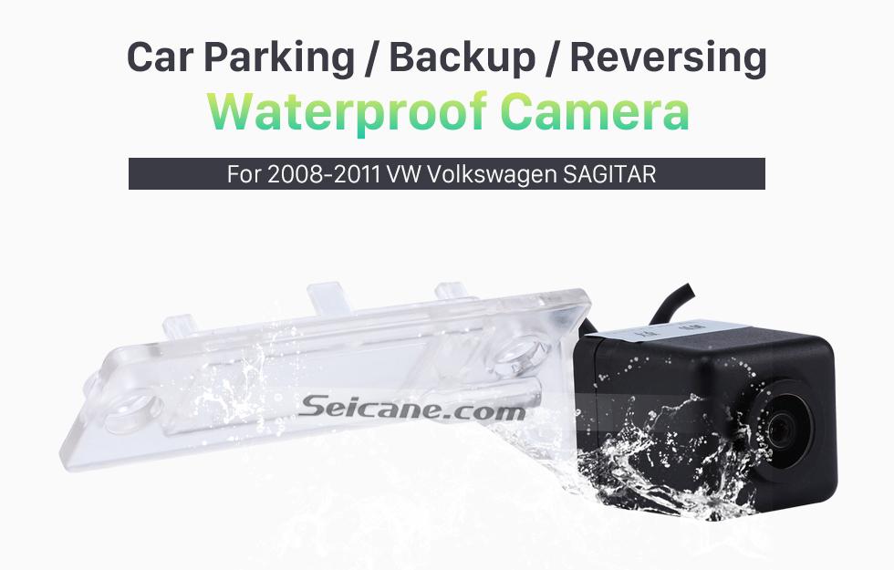 Seicane 170° HD À prova d'água azul governante Visão noturna Carro Retrovisor Câmera para 2010 2011 Audi A4L Q5 Frete grátis