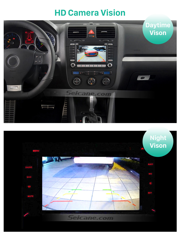 HD Camera Vision 170° HD À prova d'água azul governante Visão noturna Carro Retrovisor Câmera para 2010 2011 Audi A4L Q5 Frete grátis