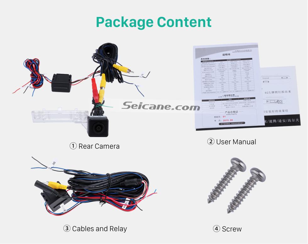 Package Content 170° HD Wasserdicht blau Herrscher Nachtsicht auto Rückfahr kamera für 2010 2011 Audi A4L Q5 Versand kostenfrei