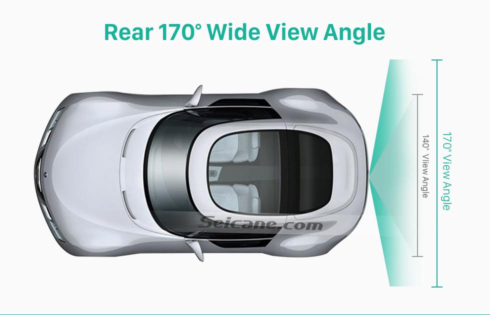 Rear 170 Wide View Angle 170° HD Wasserdicht blau Herrscher Nachtsicht auto Rückfahr kamera für 2010 2011 Audi A4L Q5 Versand kostenfrei
