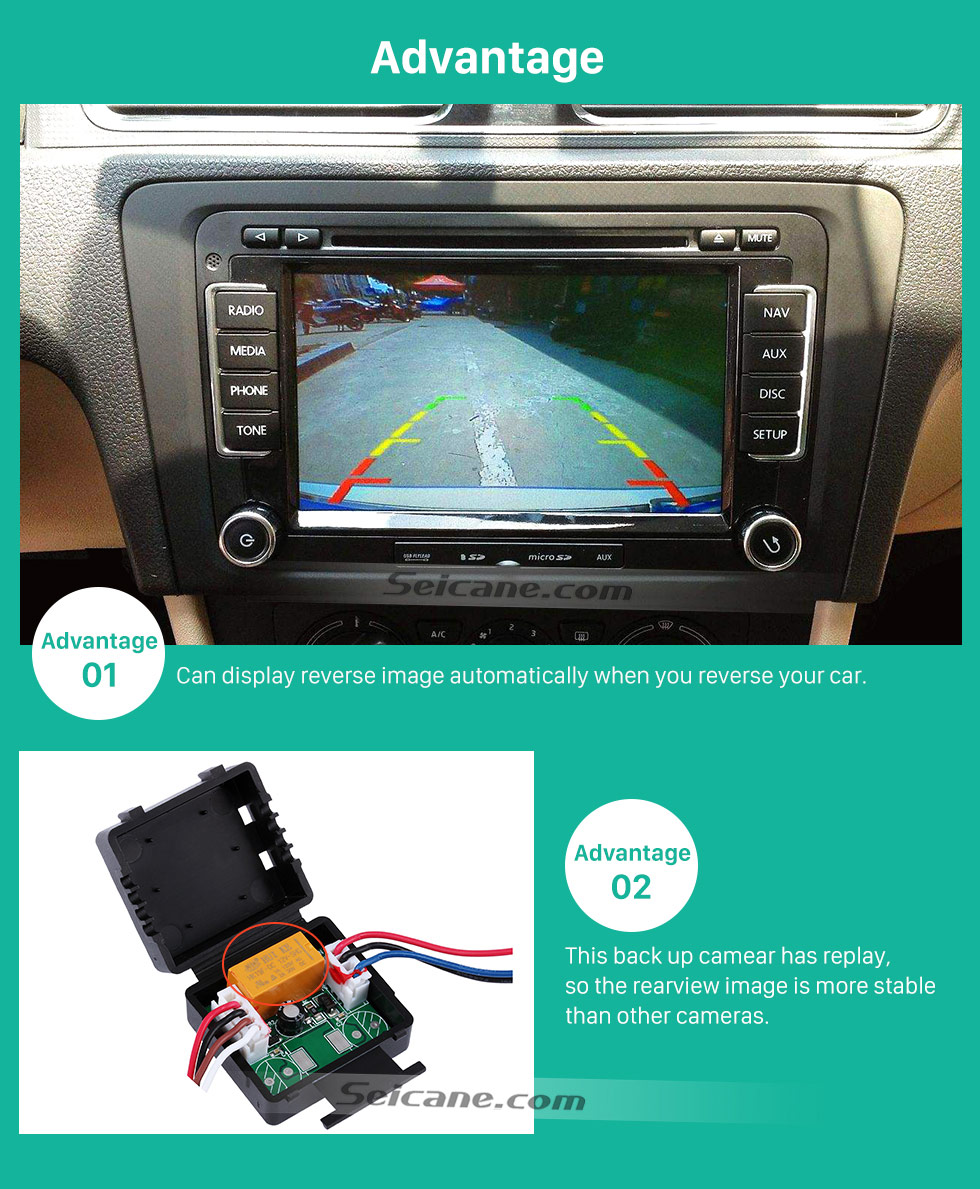 Advantage HD Car Rearview Camera for 2009-2012 Mercedes-Benz GLK free shipping