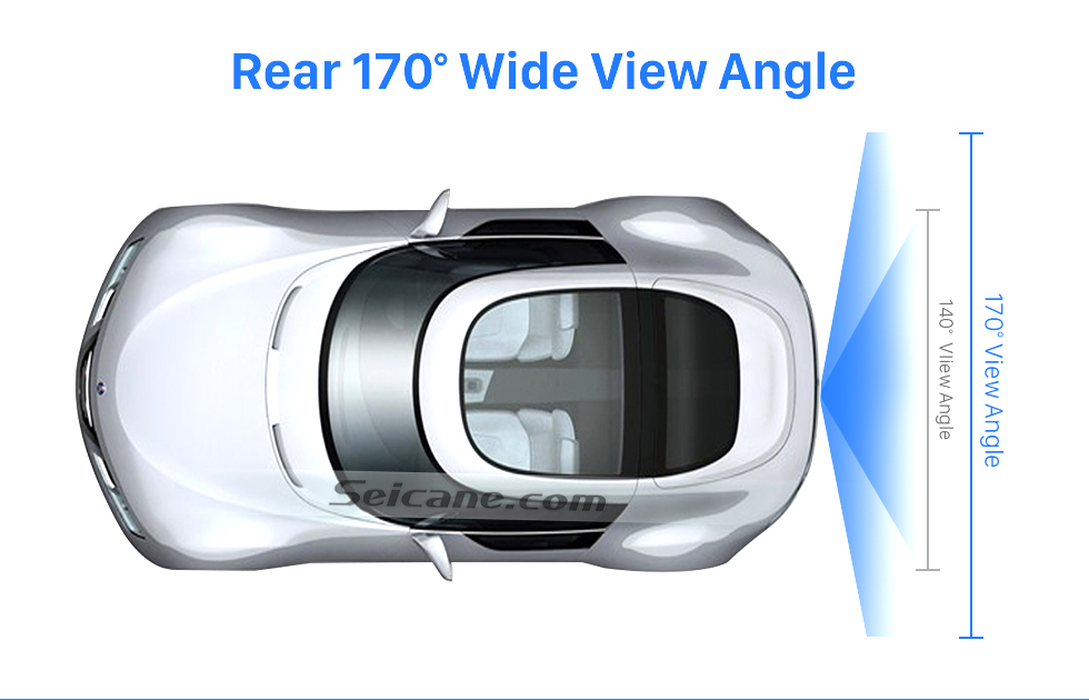 Rear 170 Wide View Angle HD 600 TV Lines Wired Car Parking Backup Reversing Camera for 2009-2012 Mercedes-Benz GLK Night Vision Waterproof free shipping