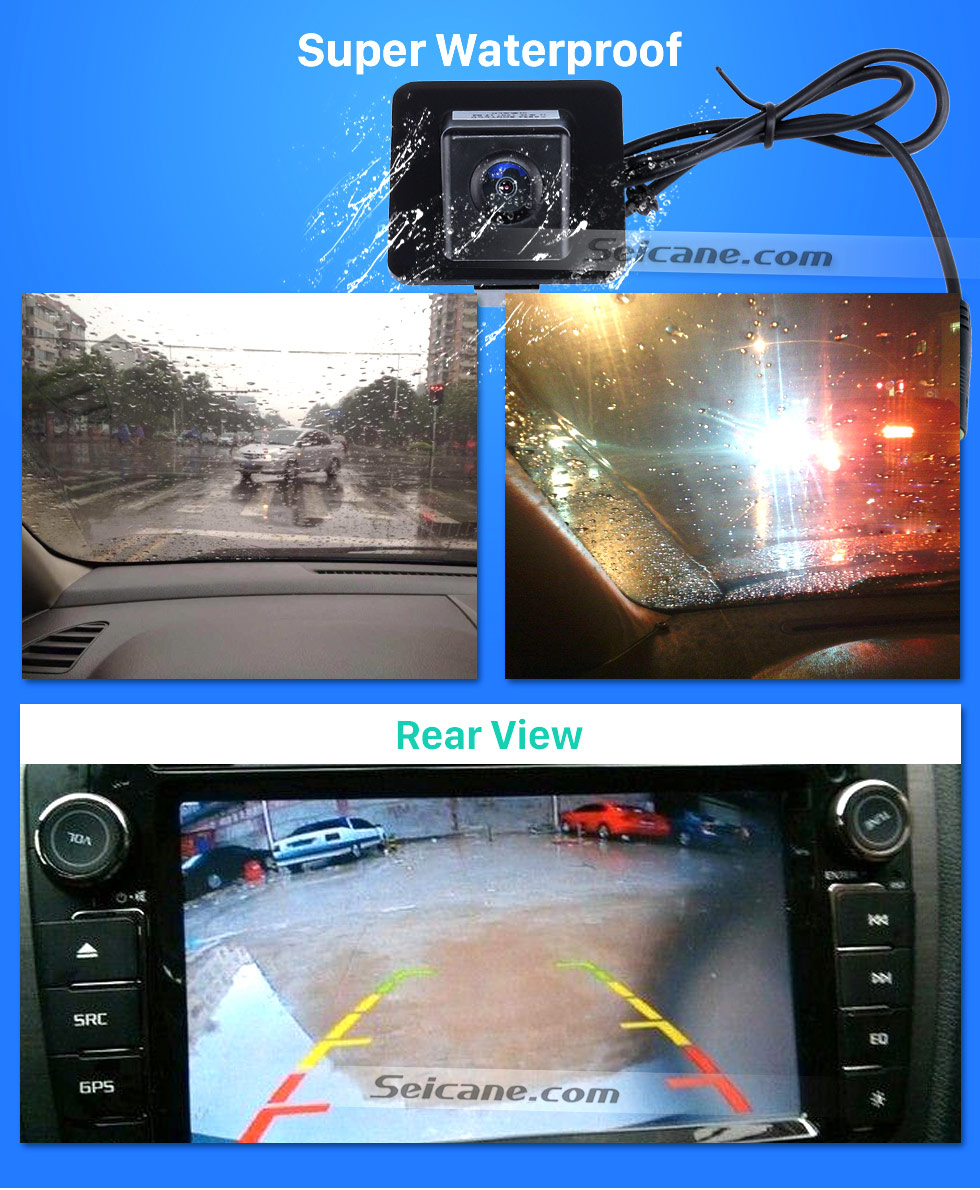 Super Waterproof HD 600 TV Lines Wired Car Parking Backup Reversing Camera for 2009-2012 Mercedes-Benz GLK Night Vision Waterproof free shipping