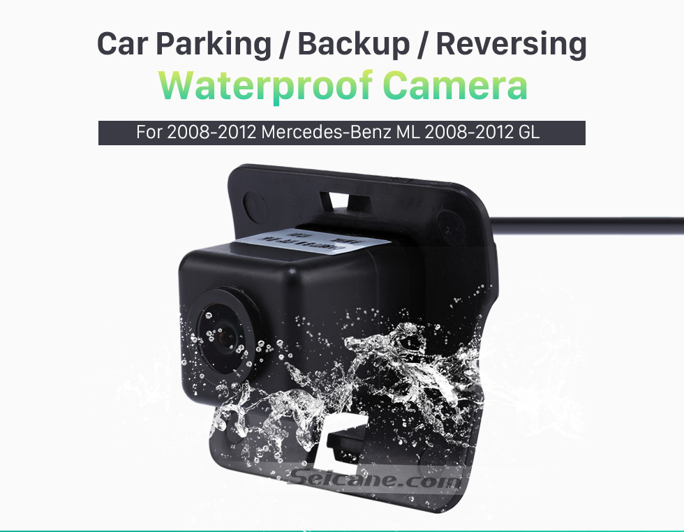 Seicane HD Wired Car Parking Backup Reversing Camera for 2008-2012 Mercedes-Benz ML 2008-2012 GL Waterproof four-color ruler and LR logo Night Vision free shipping