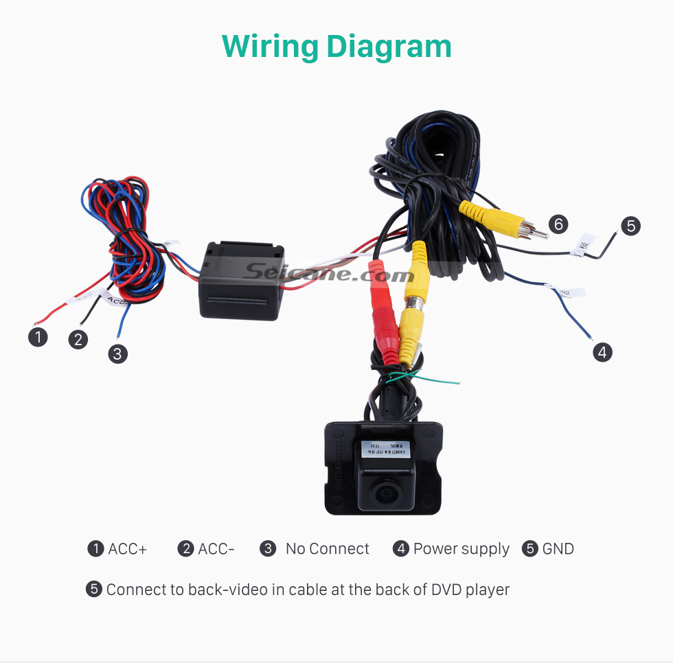 Wiring Diagram HD Wired Car Parking Backup Reversing Camera for 2008-2012 Mercedes-Benz ML 2008-2012 GL Waterproof four-color ruler and LR logo Night Vision free shipping
