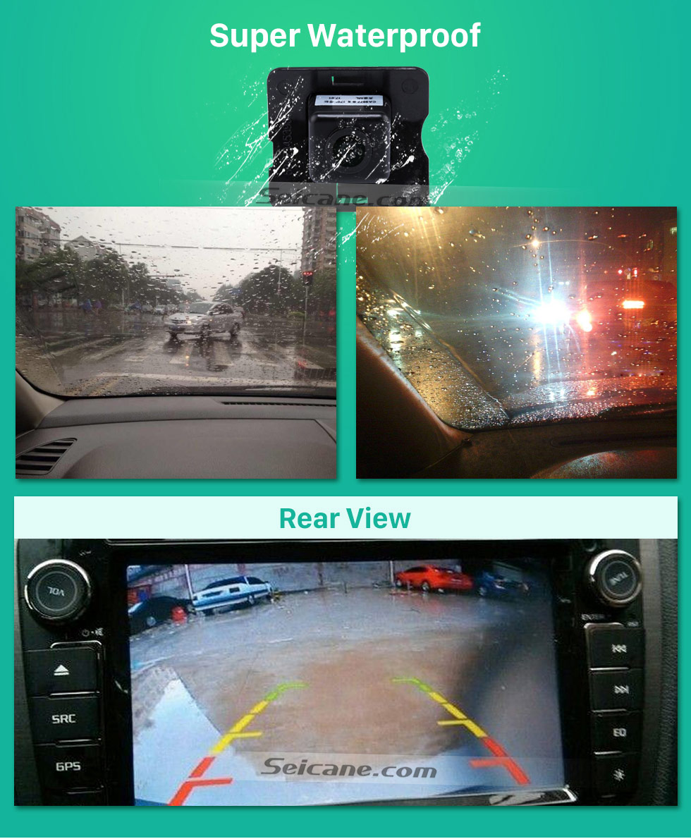 Super Waterproof HD Wired Car Parking Backup Reversing Camera for 2008-2012 Mercedes-Benz ML 2008-2012 GL Waterproof four-color ruler and LR logo Night Vision free shipping