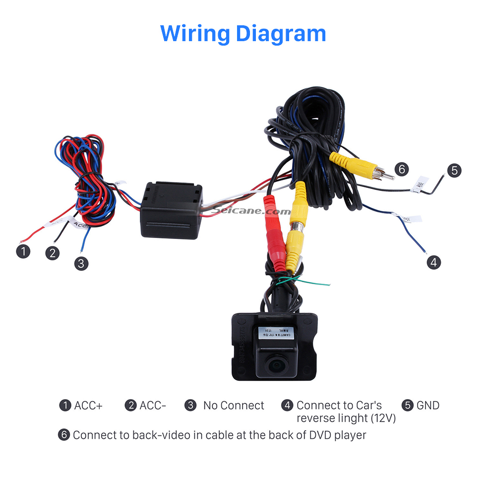 Wiring Diagram HD SONY CCD 600 TV Lines Wired Car Parking Backup Camera for 2008-2012 Mercedes-Benz ML 2008-2012 GL Waterproof Night Vision free shipping