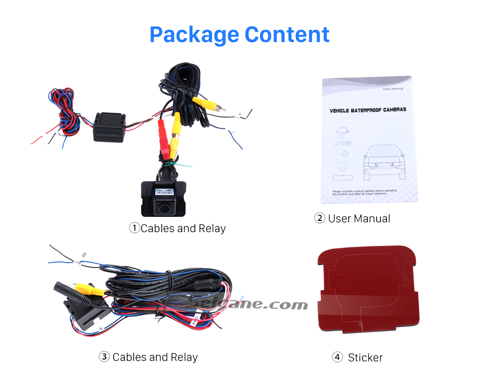 Package Content HD SONY CCD 600 TV Lines Wired Car Parking Backup Camera for 2008-2012 Mercedes-Benz ML 2008-2012 GL Waterproof Night Vision free shipping