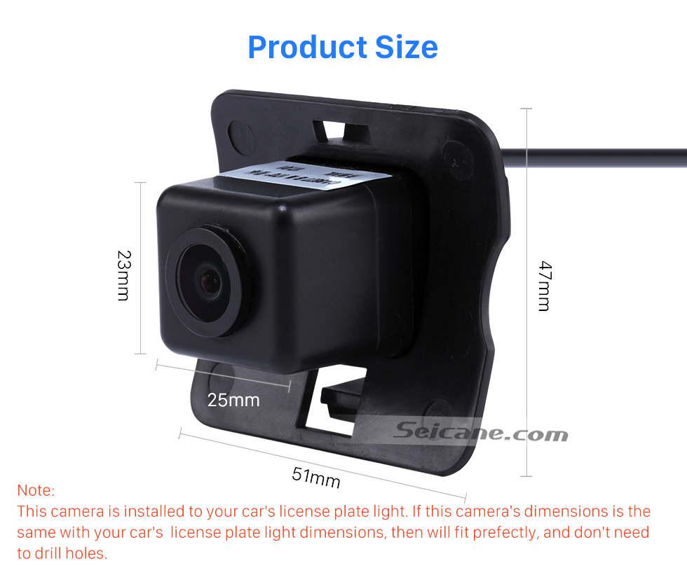 Product Size HD SONY CCD 600 TV Lines Wired Car Parking Backup Camera for 2008-2012 Mercedes-Benz ML 2008-2012 GL Waterproof Night Vision free shipping