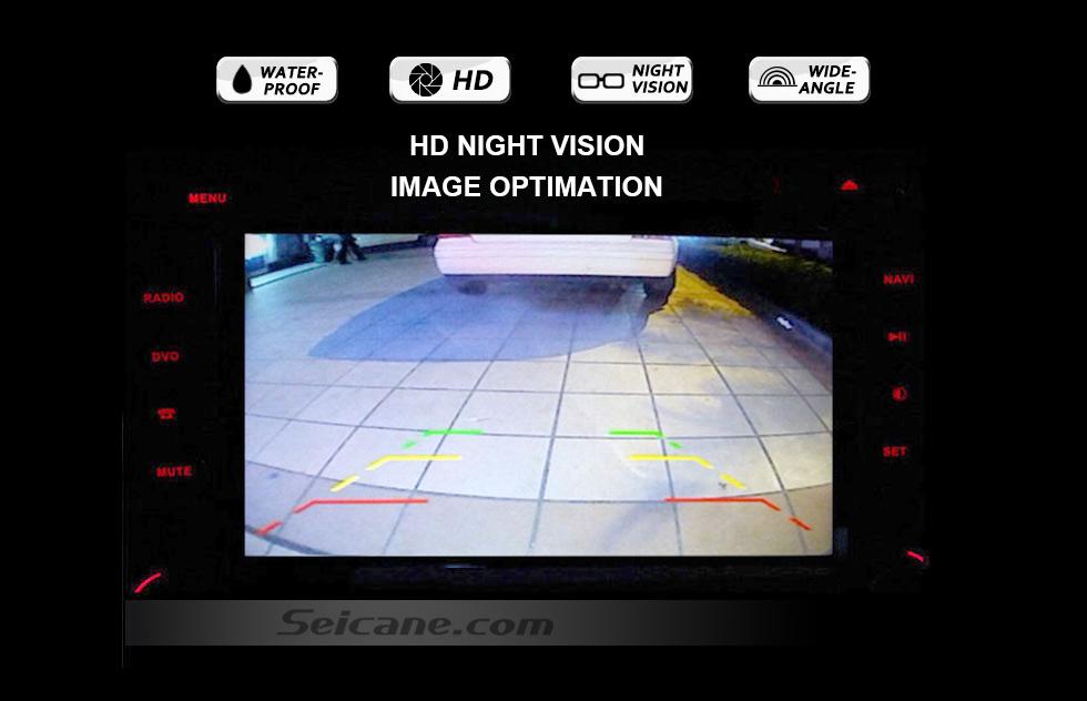HD NIGHT VISION HD W-LAN Auto Parken Backup kamera für 2008-2011 Mercedes-Benz B200 A160 wasserdicht Vierfarben Herrscher und LR logo Nachtsicht Versand kostenfrei