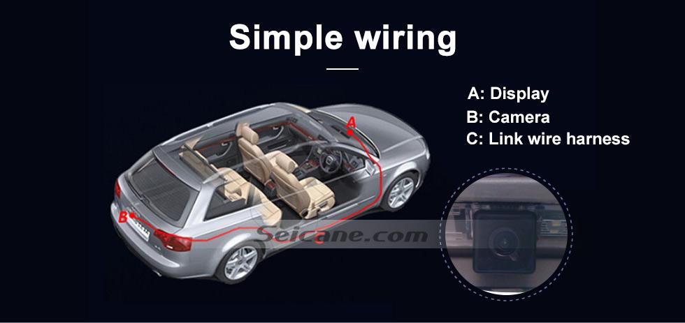 Simple wiring HD W-LAN Auto Parken Backup kamera für 2008-2011 Mercedes-Benz B200 A160 wasserdicht Vierfarben Herrscher und LR logo Nachtsicht Versand kostenfrei