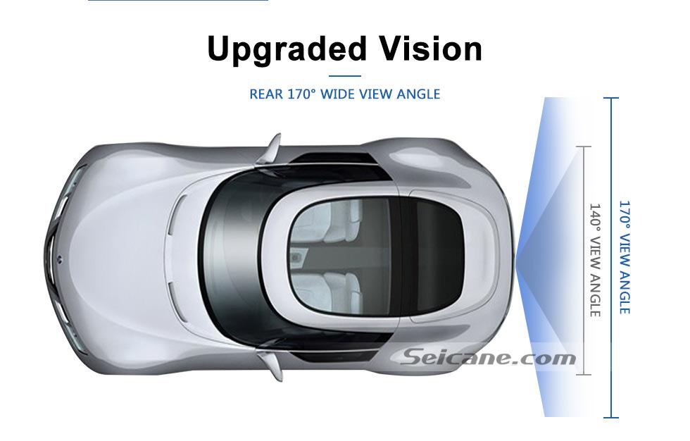 Upgraded Vision HD W-LAN Auto Parken Backup kamera für 2008-2011 Mercedes-Benz B200 A160 wasserdicht Vierfarben Herrscher und LR logo Nachtsicht Versand kostenfrei