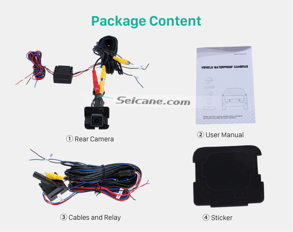 Package Content HD Car Rearview Camera for 2009-2013 Mercedes-Benz R free shipping