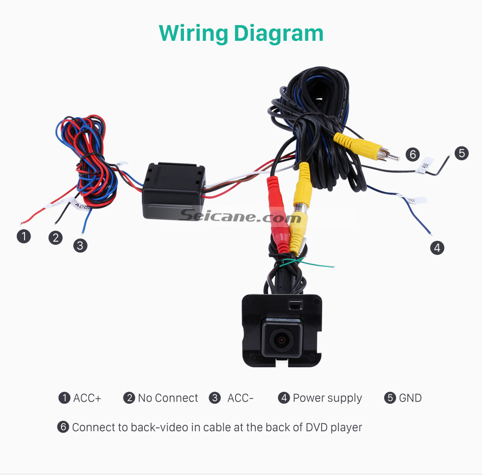 Wiring Diagram HD Car Rearview Camera for 2009-2013 Mercedes-Benz R free shipping