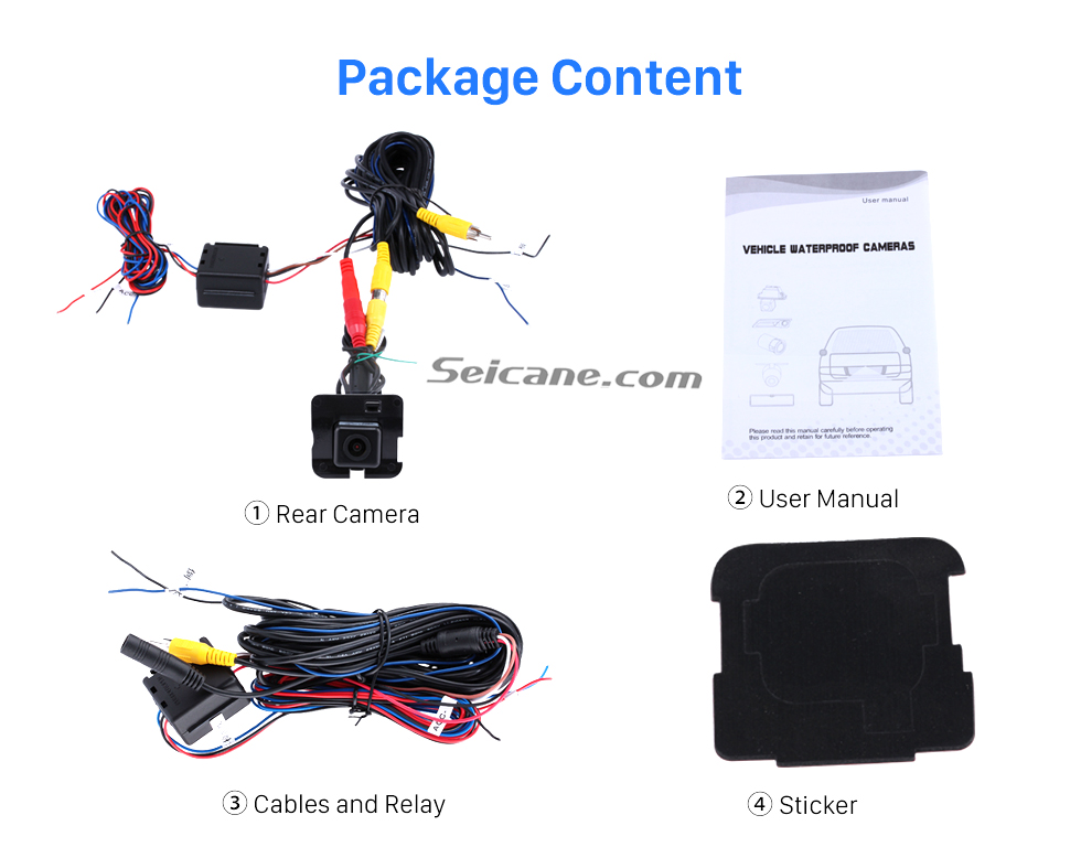 Package Content HD 600 TV Lines Wired Car Parking Backup Reversing Camera for 2009-2013 Mercedes-Benz R Waterproof Night Vision free shipping