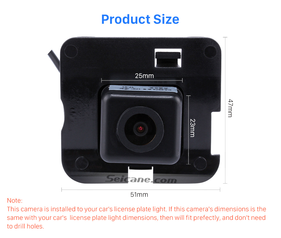 Product Size HD 600 TV Lines Wired Car Parking Backup Reversing Camera for 2009-2013 Mercedes-Benz R Waterproof Night Vision free shipping