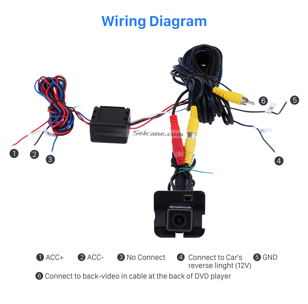 Wiring Diagram HD 600 TV Lines Wired Car Parking Backup Reversing Camera for 2009-2013 Mercedes-Benz R Waterproof Night Vision free shipping