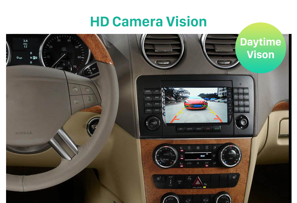 HD Camera Vision HD Car Rearview Camera for 2008-2012 Mercedes-Benz GL 2008-2012 ML free shipping