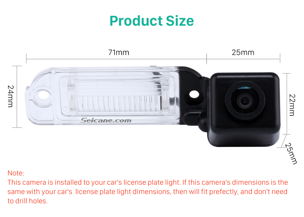 Product Size HD Car Rearview Camera for 2008-2012 Mercedes-Benz GL 2008-2012 ML free shipping