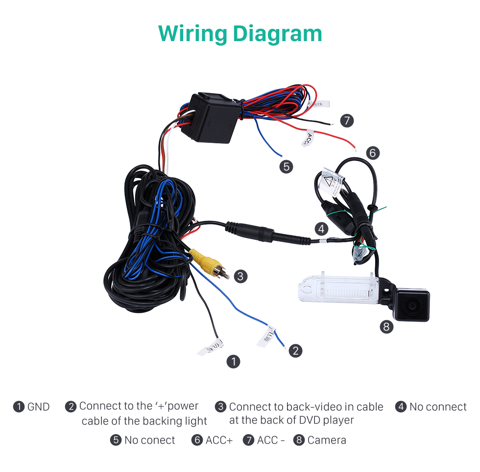 Wiring Diagram HD Car Rearview Camera for 2008-2012 Mercedes-Benz GL 2008-2012 ML free shipping