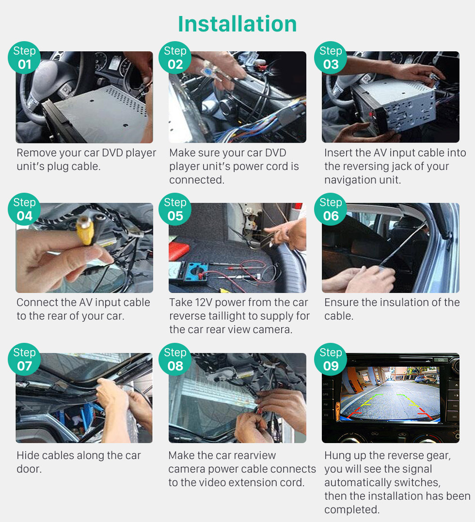 Installation Buy cheap HD Car Rearview Camera for 2008-2013 Mercedes-Benz SMART  free shipping