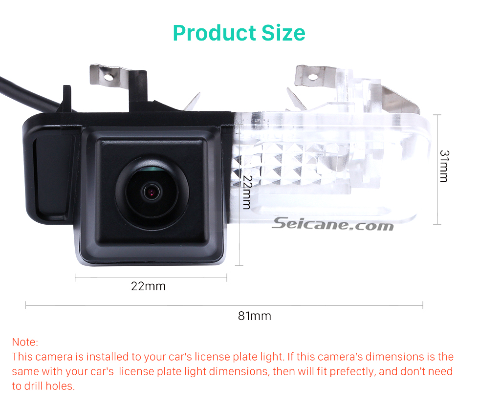 Product Size Buy cheap HD Car Rearview Camera for 2008-2013 Mercedes-Benz SMART  free shipping