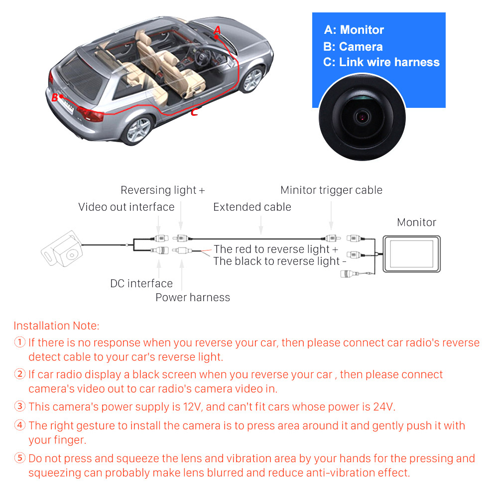 Seicane HD SONY CCD 600 TV Lines Wired Car Parking Backup Reversing Camera for 2008-2013 Mercedes-Benz SMART Waterproof Night Vision free shipping