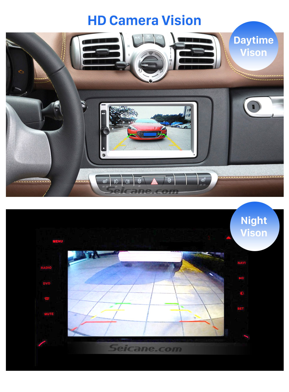 HD Camera Vision HD SONY CCD 600 TV Lines Wired Car Parking Backup Reversing Camera for 2008-2013 Mercedes-Benz SMART Waterproof Night Vision free shipping