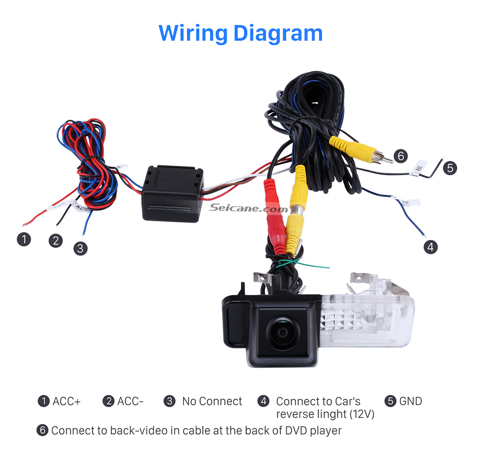 Wiring Diagram HD SONY CCD 600 TV Lines Wired Car Parking Backup Reversing Camera for 2008-2013 Mercedes-Benz SMART Waterproof Night Vision free shipping