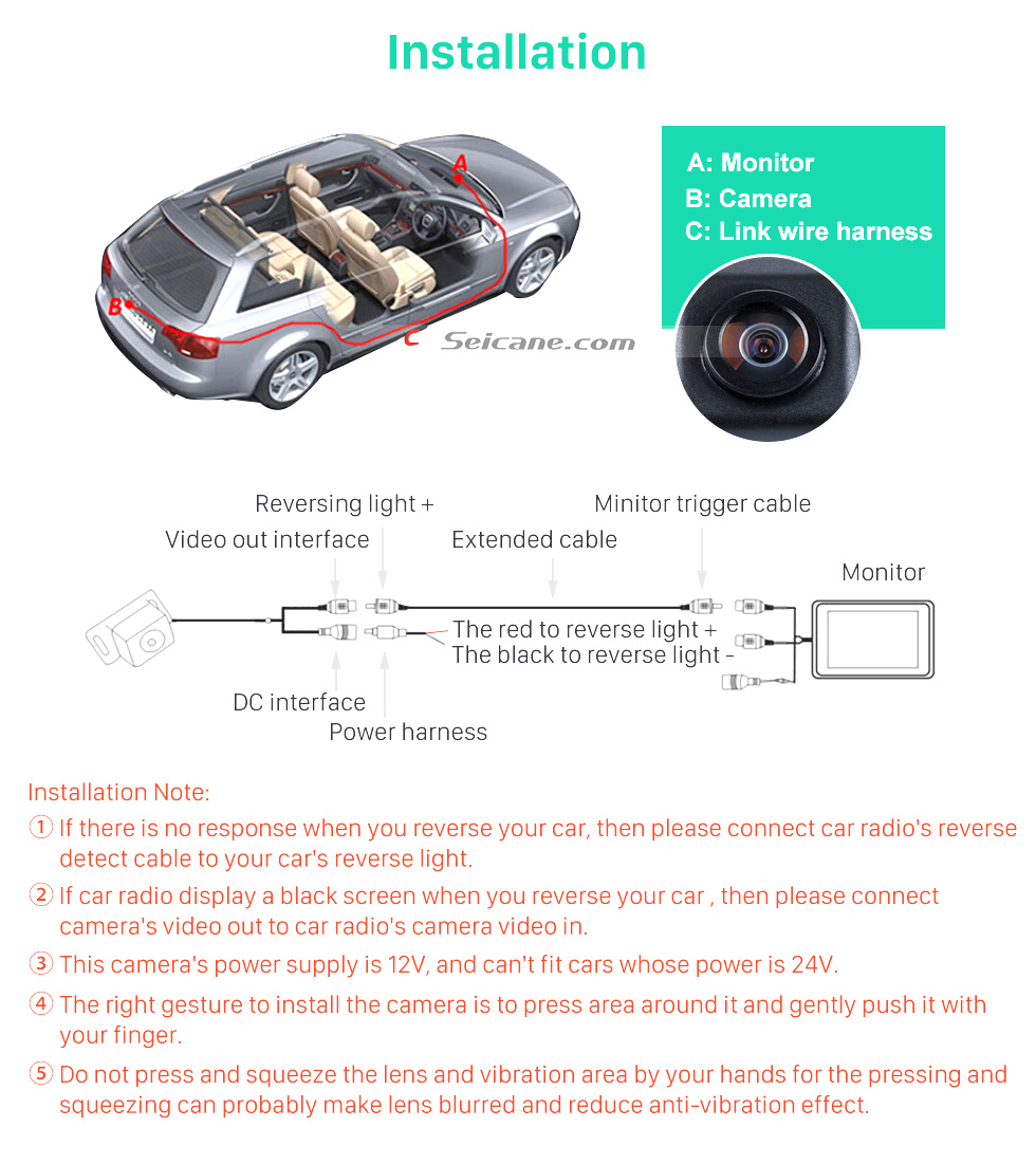 Installation Hot selling Mercedes-Benz Viano Vito Car Rear View Camera with four-color ruler and LR logo Night Vision free shipping