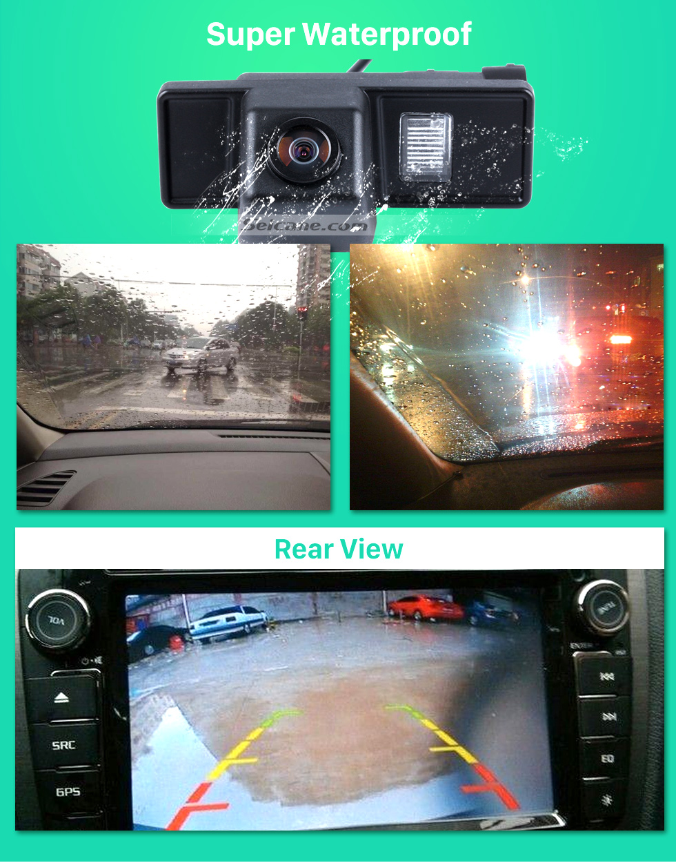 Super Waterproof Hot selling Mercedes-Benz Viano Vito Car Rear View Camera with four-color ruler and LR logo Night Vision free shipping