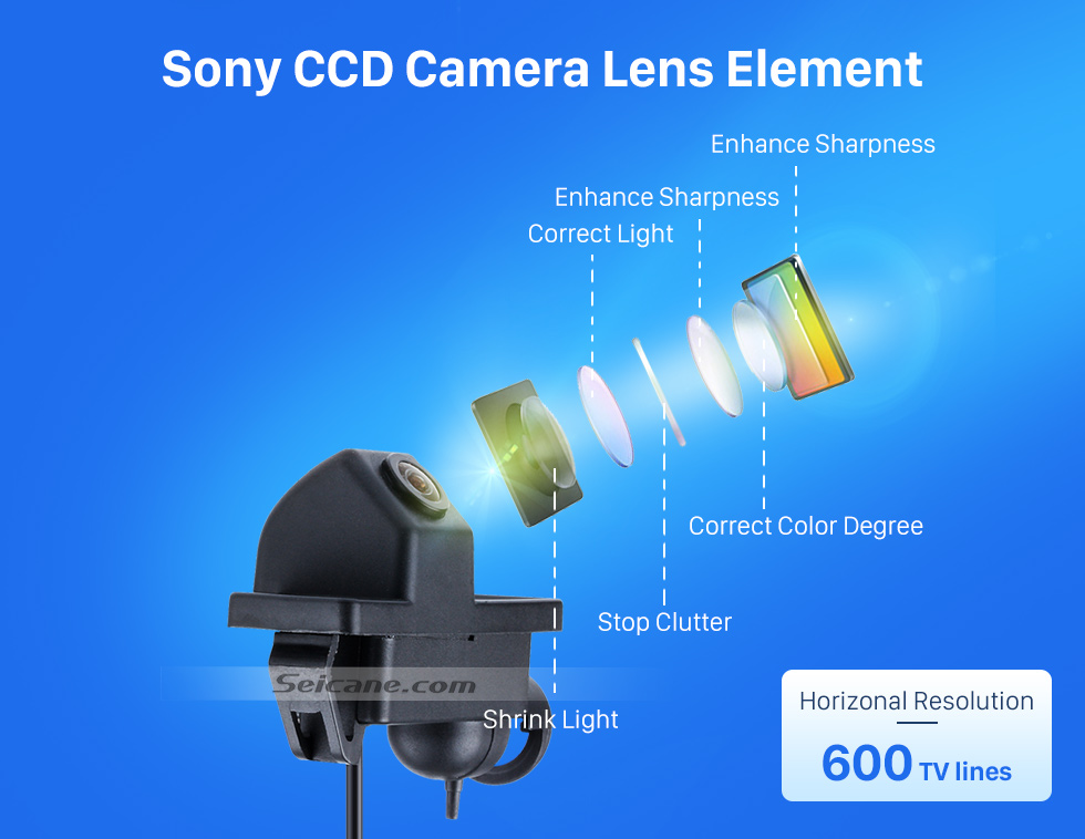 Sony CCD Camera Lens Element HD 600 TV Lines Wired Car Parking Backup Reversing Camera for Mercedes-Benz Viano Vito Waterproof Night Vision free shipping