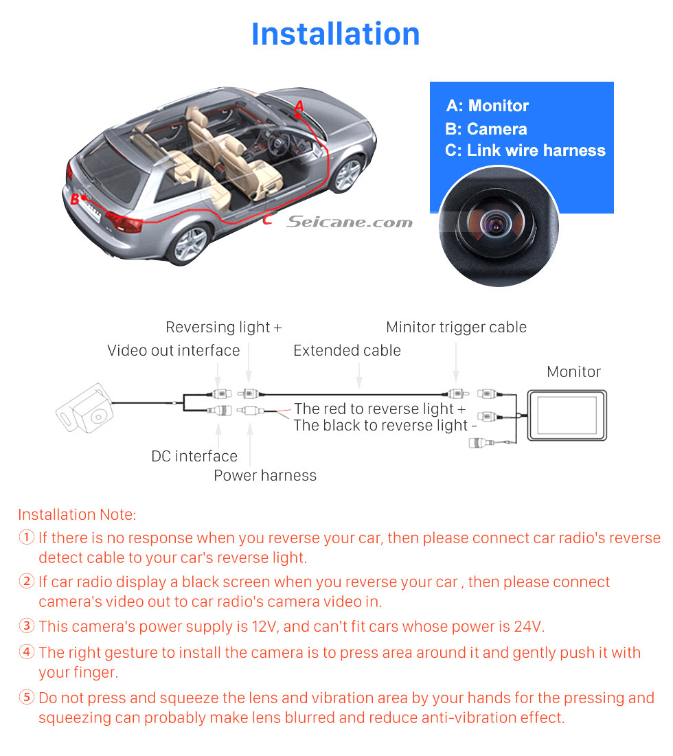 Installation HD 600 TV Lines Wired Car Parking Backup Reversing Camera for Mercedes-Benz Viano Vito Waterproof Night Vision free shipping
